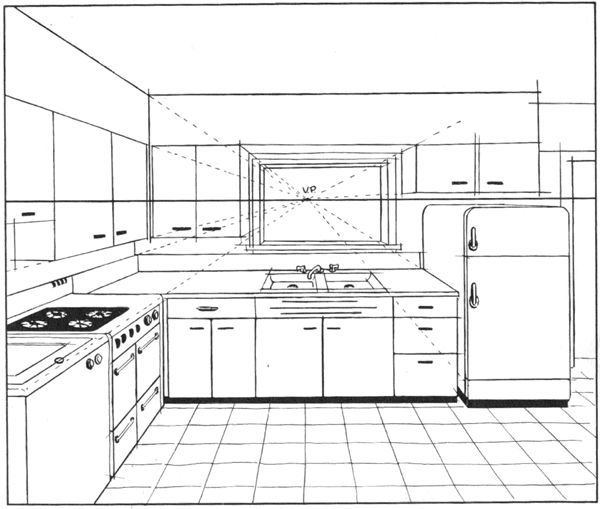 Drawn office perspective drawing Best ideas point 2 Perspective