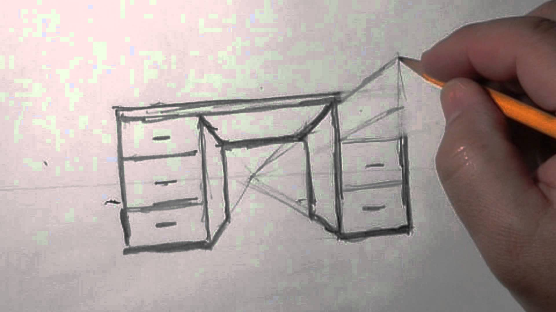 Drawn office perspective drawing A quick 1 basic how