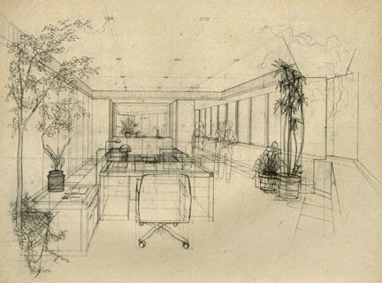 Drawn office perspective drawing Limited Illustration: Beyond a this