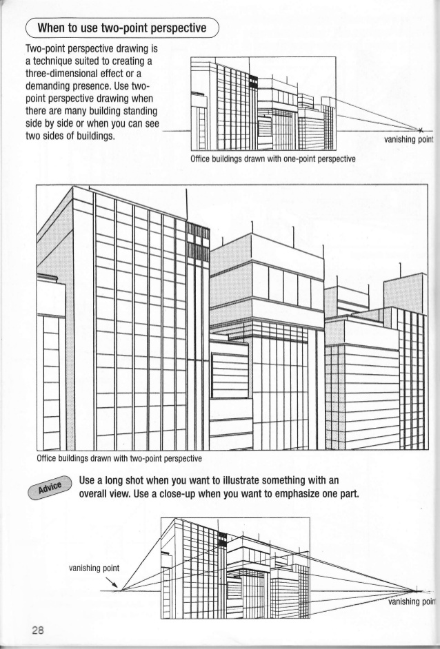 Drawn office perspective drawing Manga 29 28 vol putting