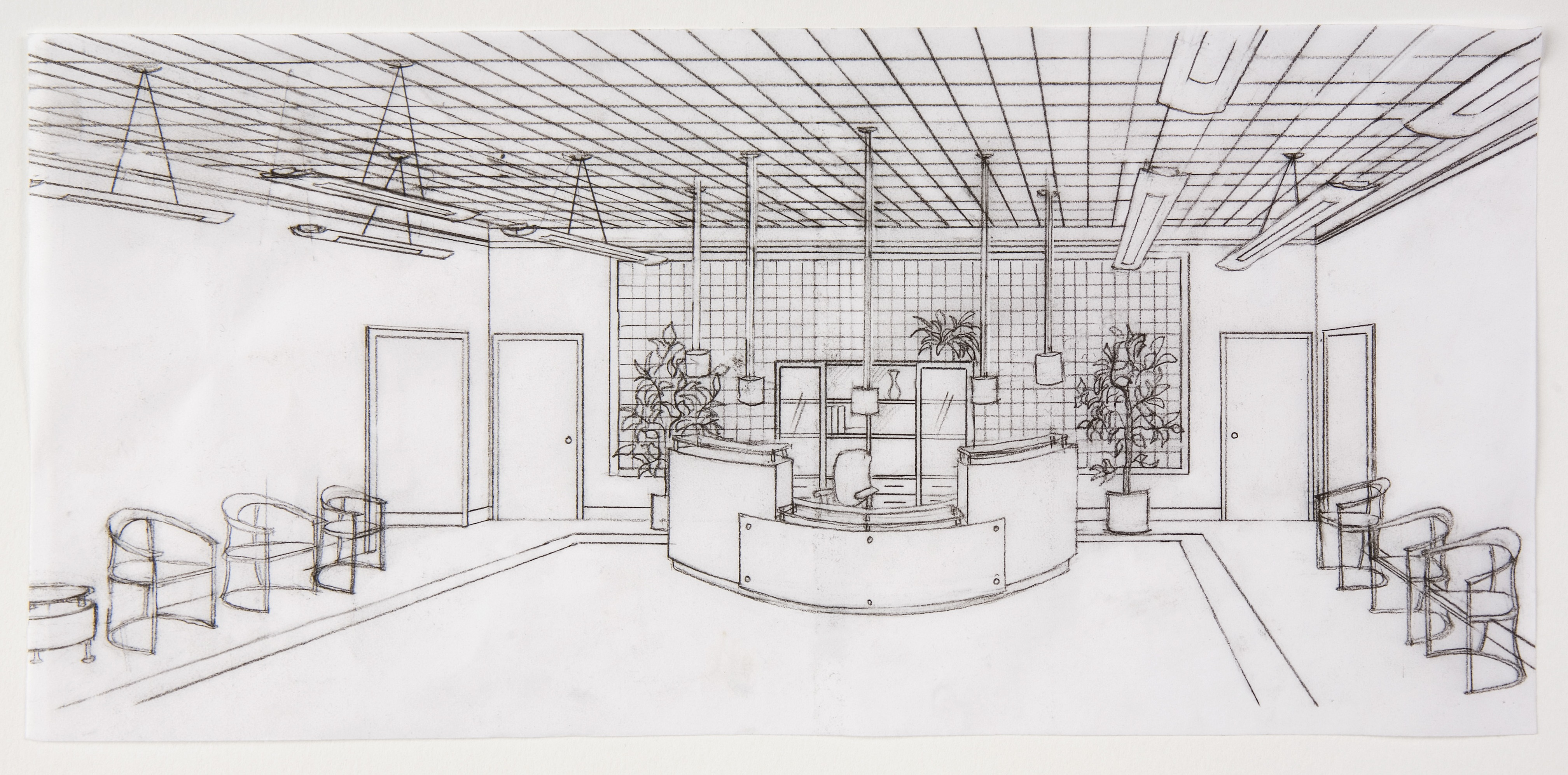 Drawn office perspective drawing Drawn Hand Coroflot State Perspective