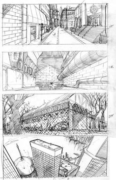 Drawn office perspective drawing More Perspective  dungeon Different