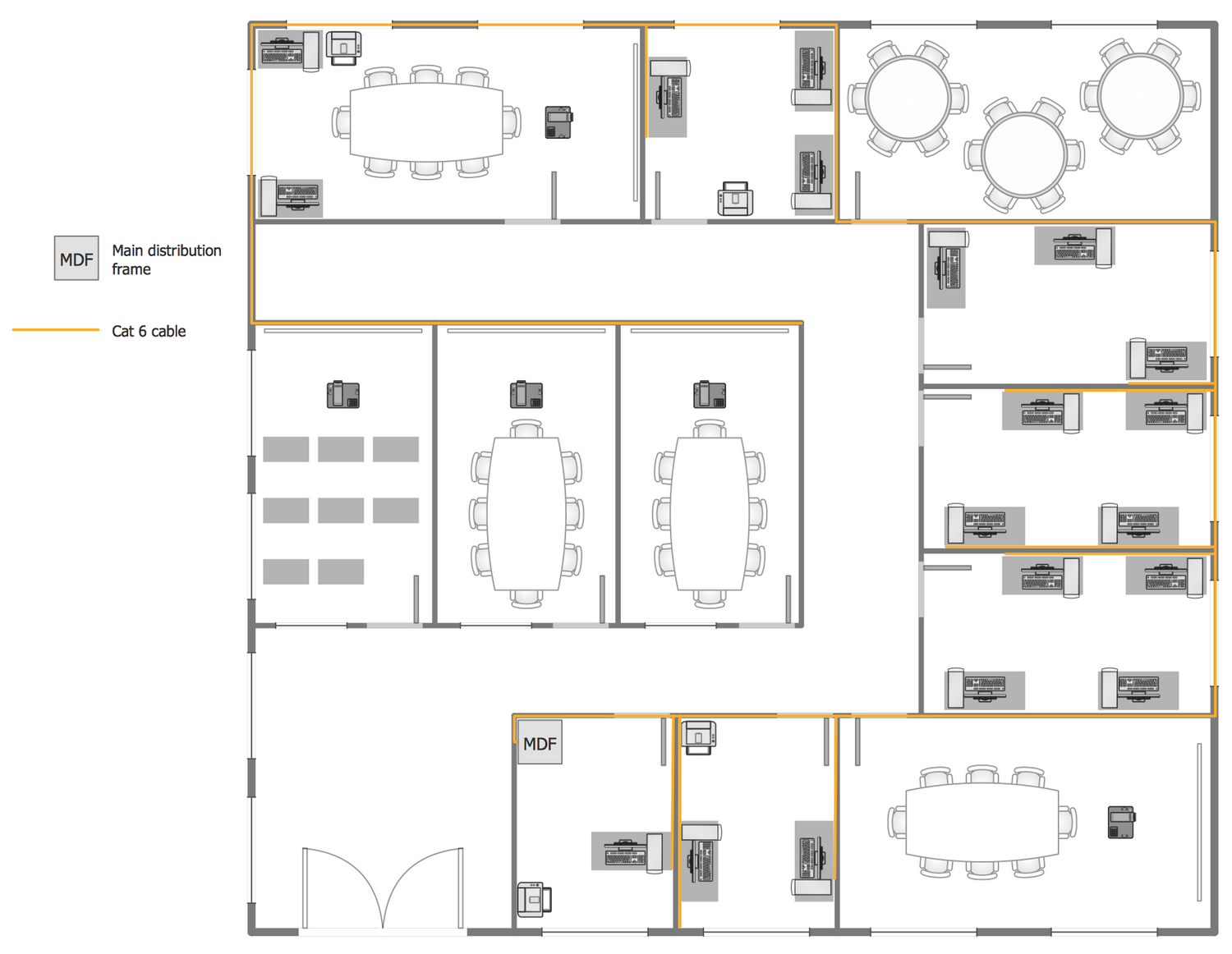 Drawn office plan drawing Office Network com Network Solution