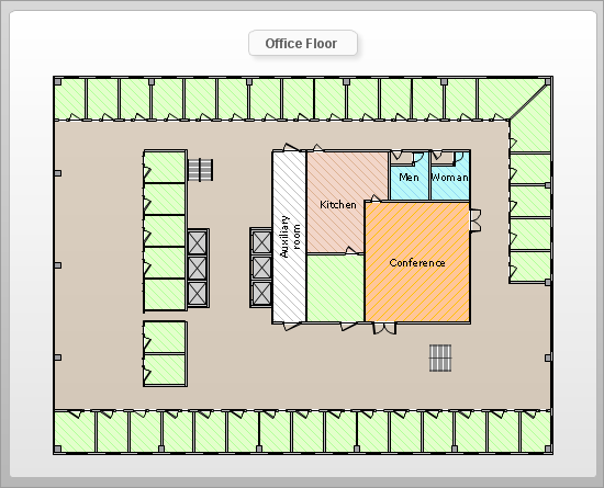 Drawn office plan drawing Sample 10: Design ConceptDraw and