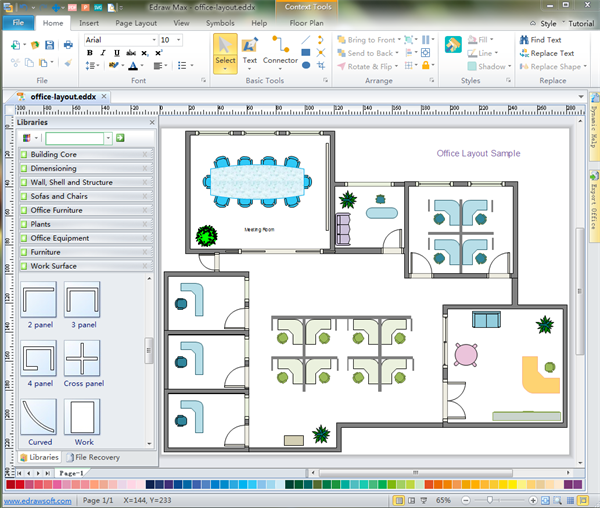 Drawn office plan drawing Free Download Floor Floor Plan