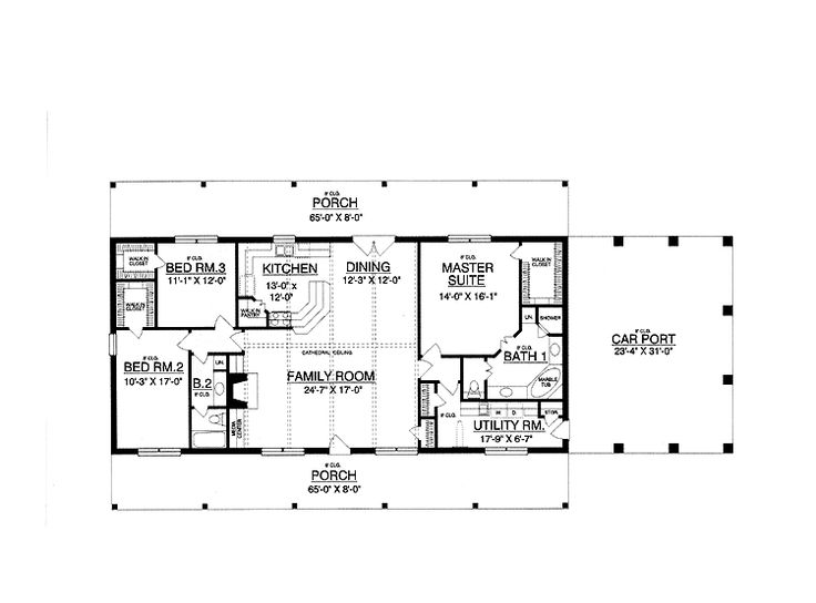 Drawn office plans modern Plans One Expansive bedrooms 30x50