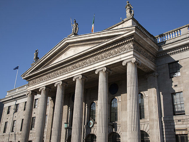 Drawn office post office building In Dublin com capital's of