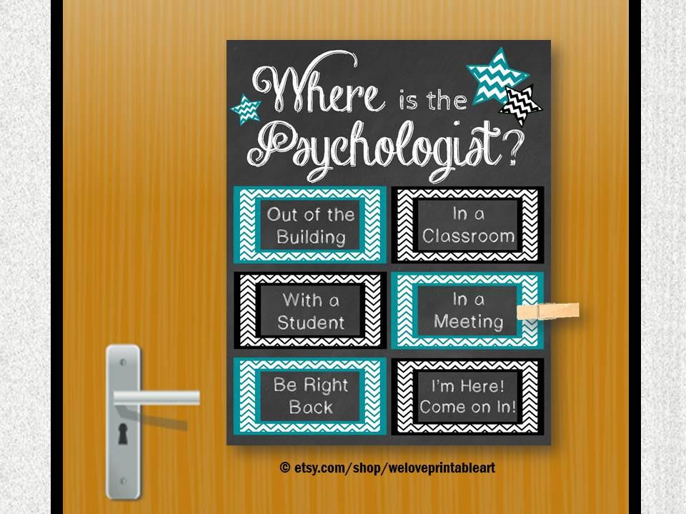 Drawn office psychologist Etsy Poster Decor Office School