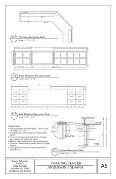 Drawn office reception area Millwork Images Drafting  :