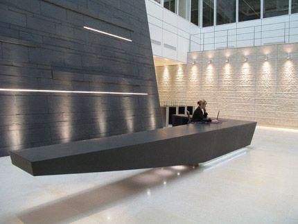 Drawn office reception area On desks on Best ideas