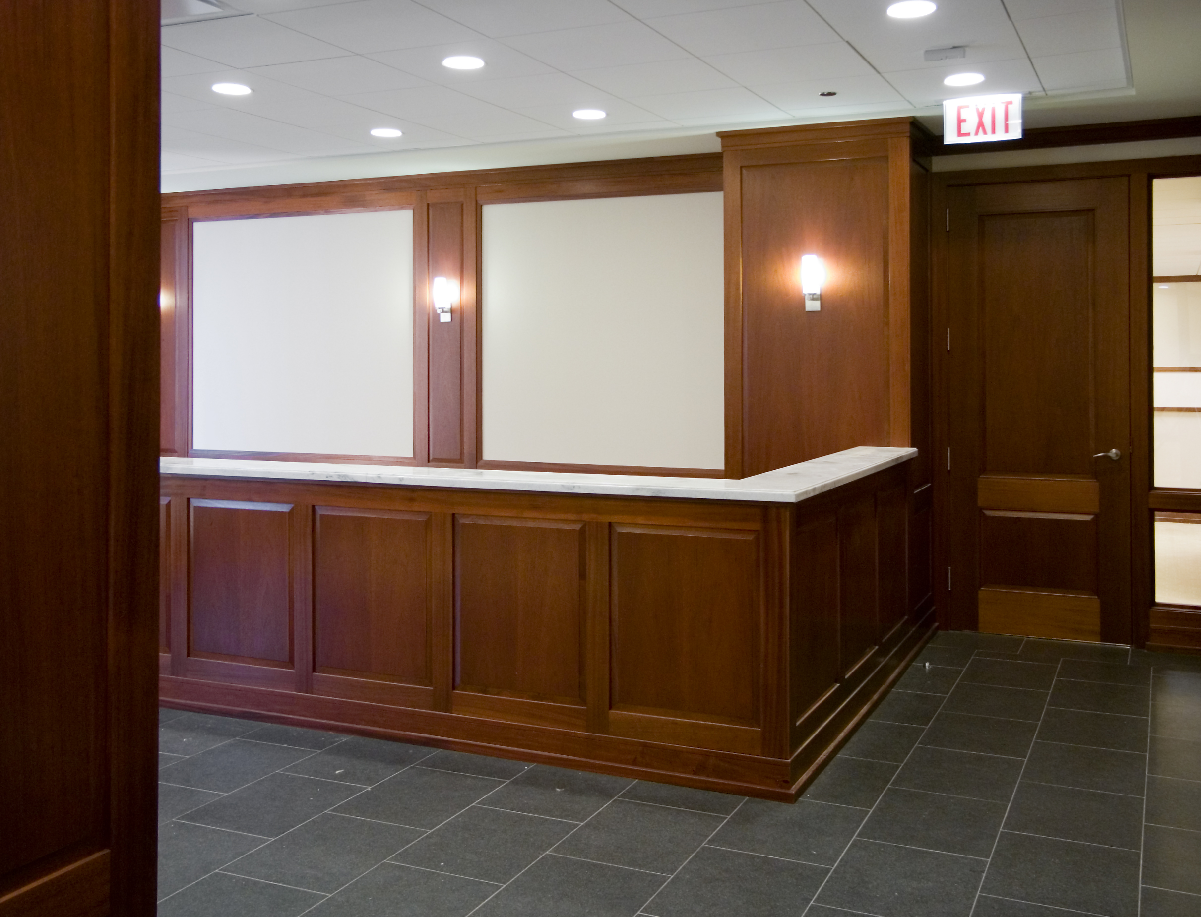 Drawn office reception area A counter office Dant entrance