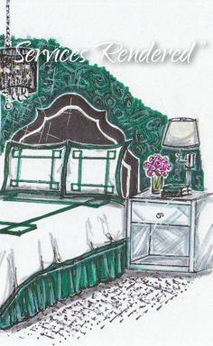Drawn office rendered Bedroom Rendered