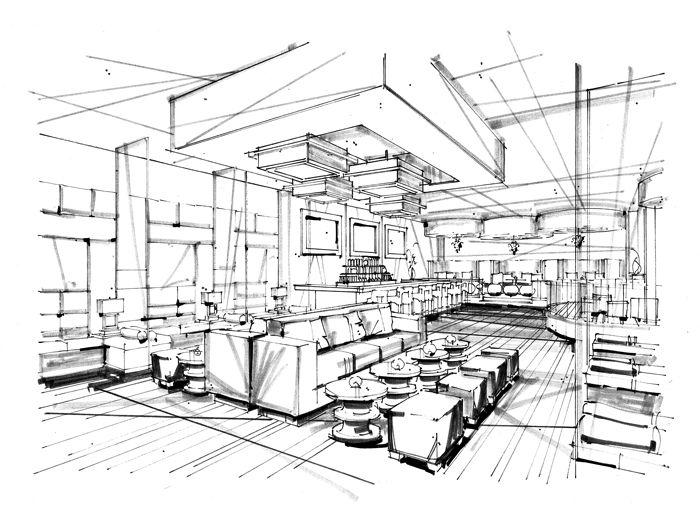 Drawn office rendered Rendering images rendering INTERIORsketch interior