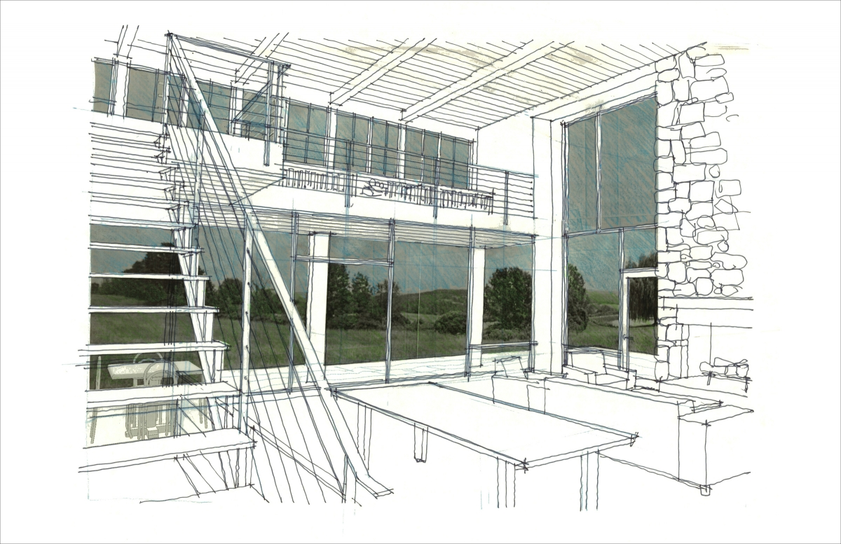 Drawn office rendered Drawing made Rendering A and