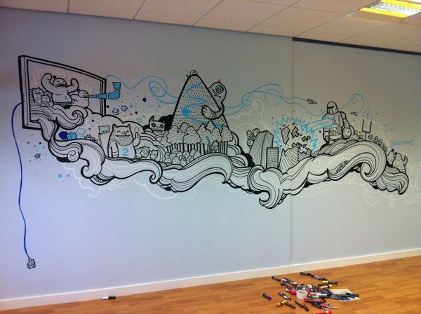 Drawn office room design On 25+ Behance on Pinterest