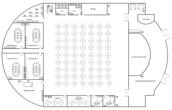 Drawn office sample Office Examples  Plan and