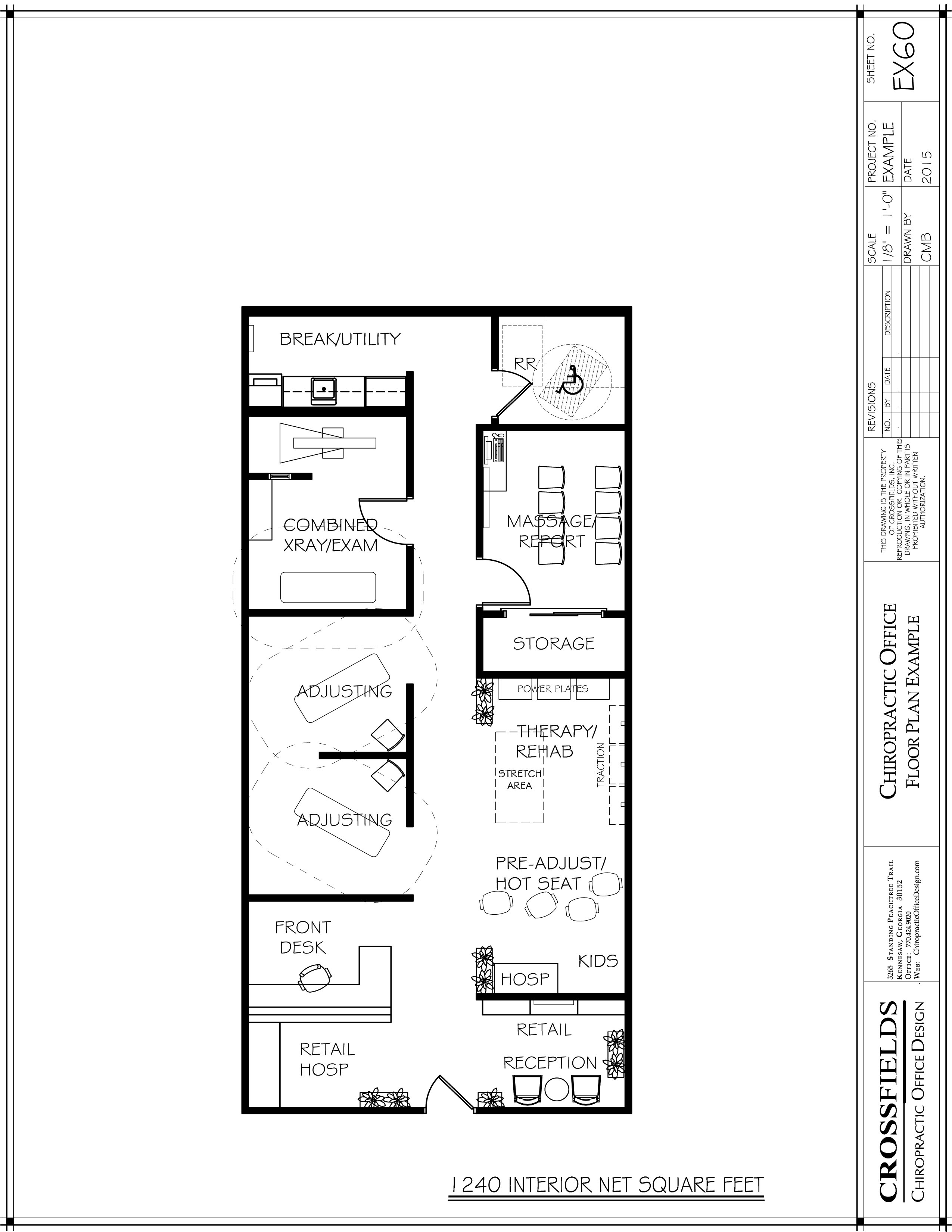 Drawn office sample Plan Semi Rooms and Plan
