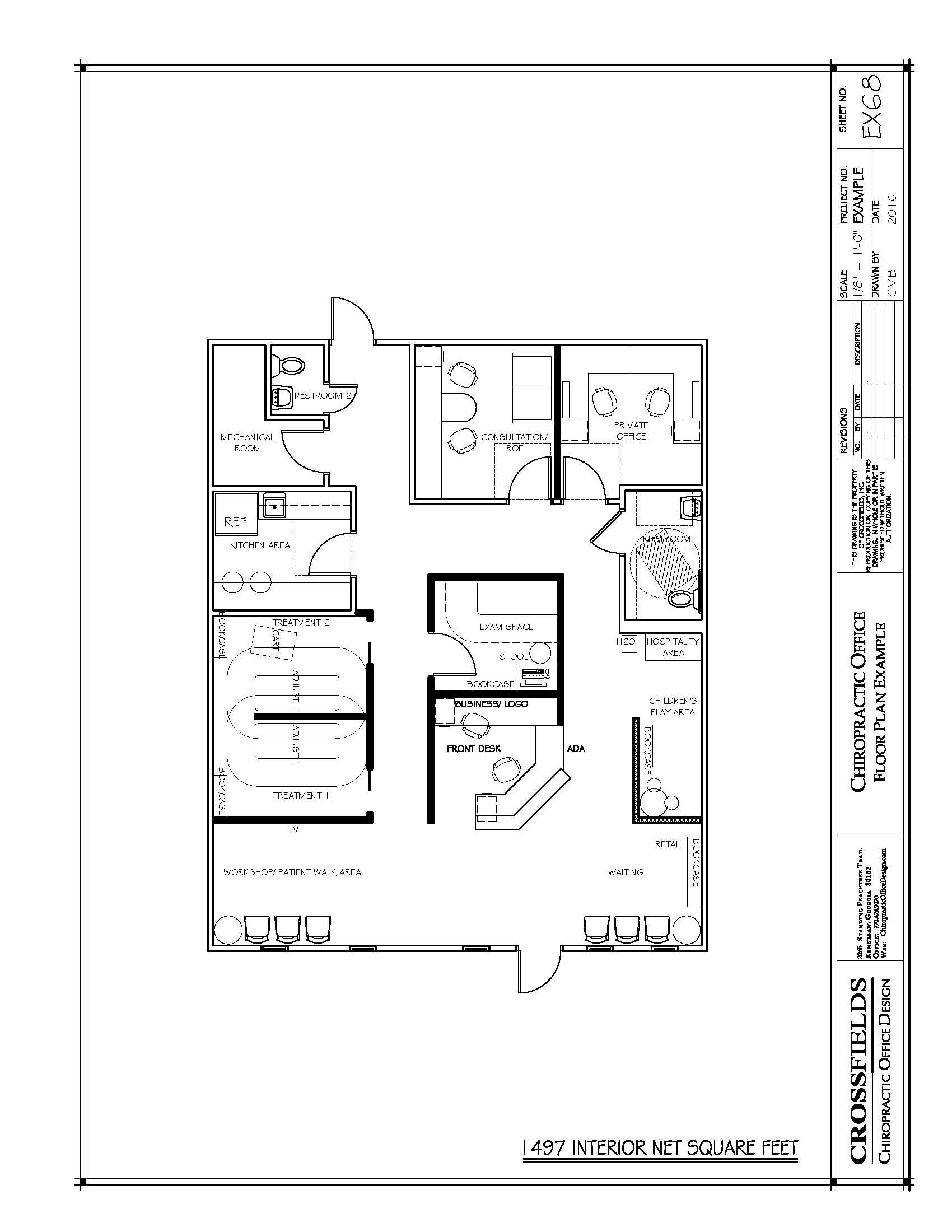 Drawn office sample Floor Play Children's Area Chiropractic