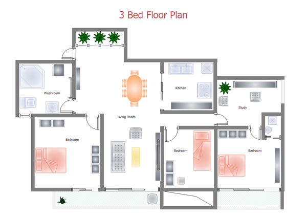 Drawn bulding  plan Of and Plan Home Layout
