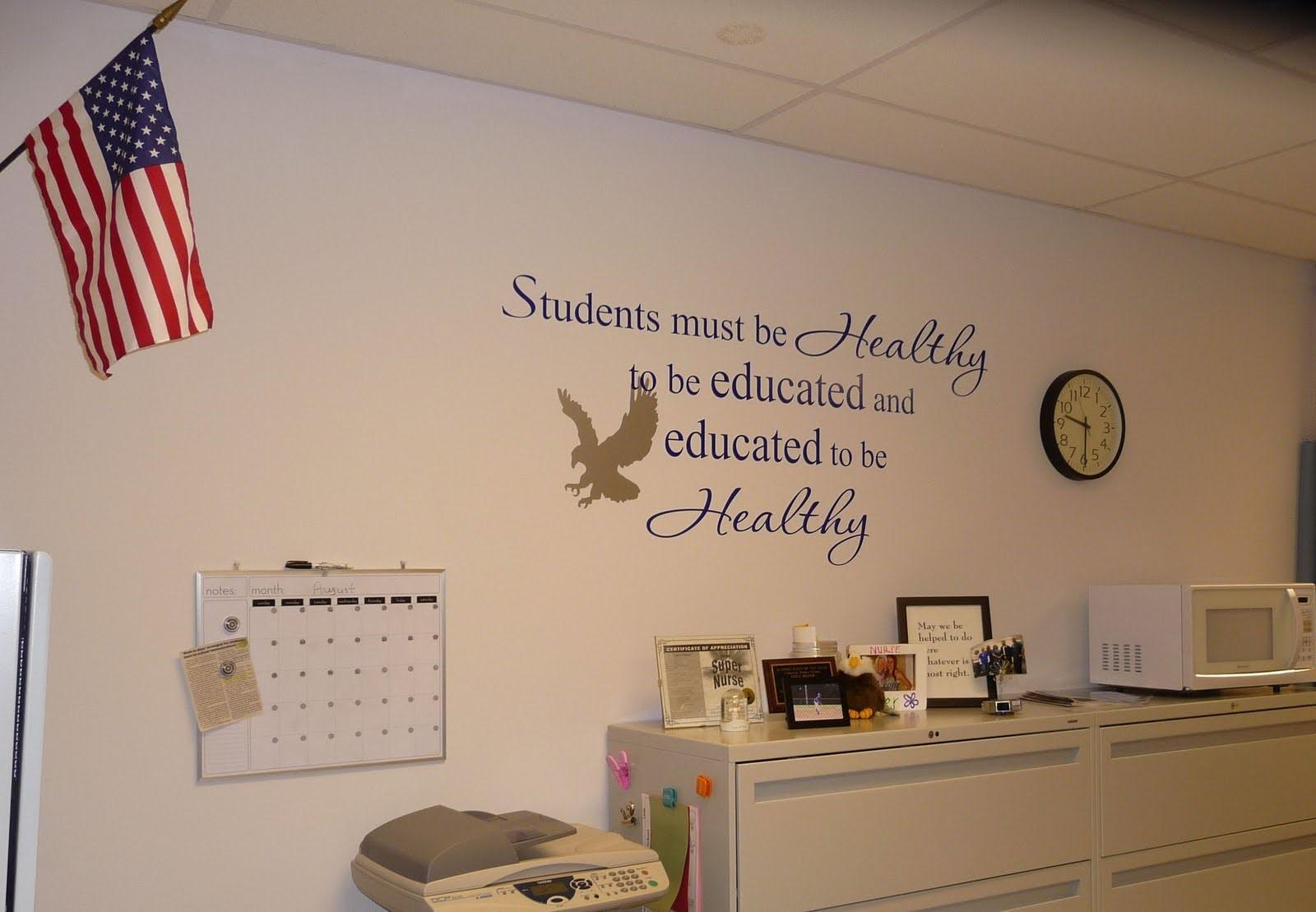 Drawn office school principal Wall School Wall by for
