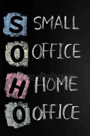 Drawn office small office Stock acronym — Photo Small