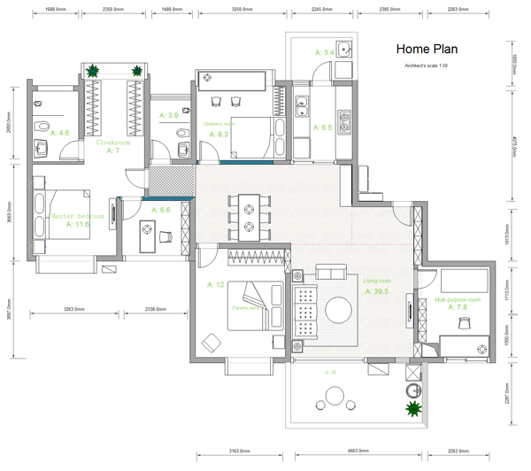 Drawn office software house House Building Edraw Plan Software