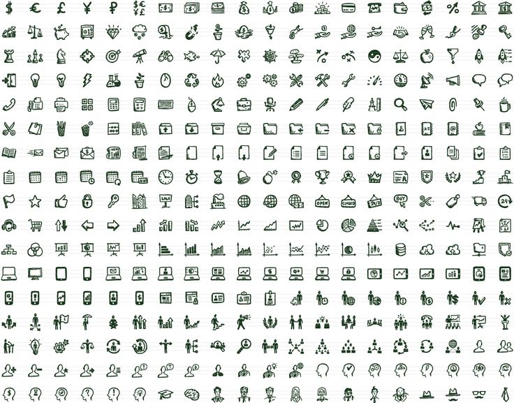 Drawn office sweet 340 Icons Office Vector Office