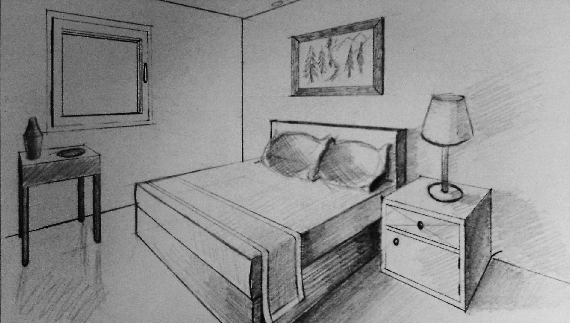 Drawn bedroom easy How  bedroom to two