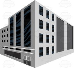 Drawn office two point Building Building Light Two Cartoon