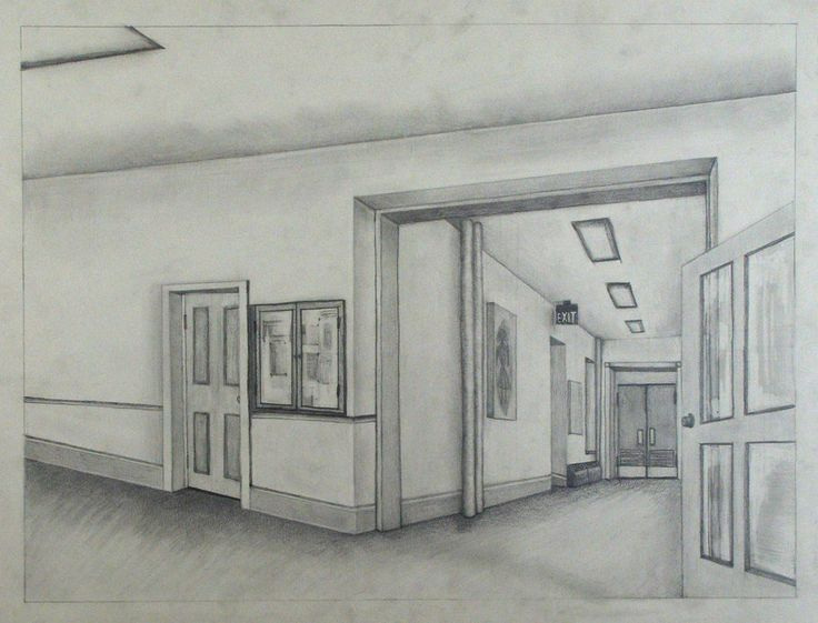 Drawn office two point 2pt Find point about Perspective