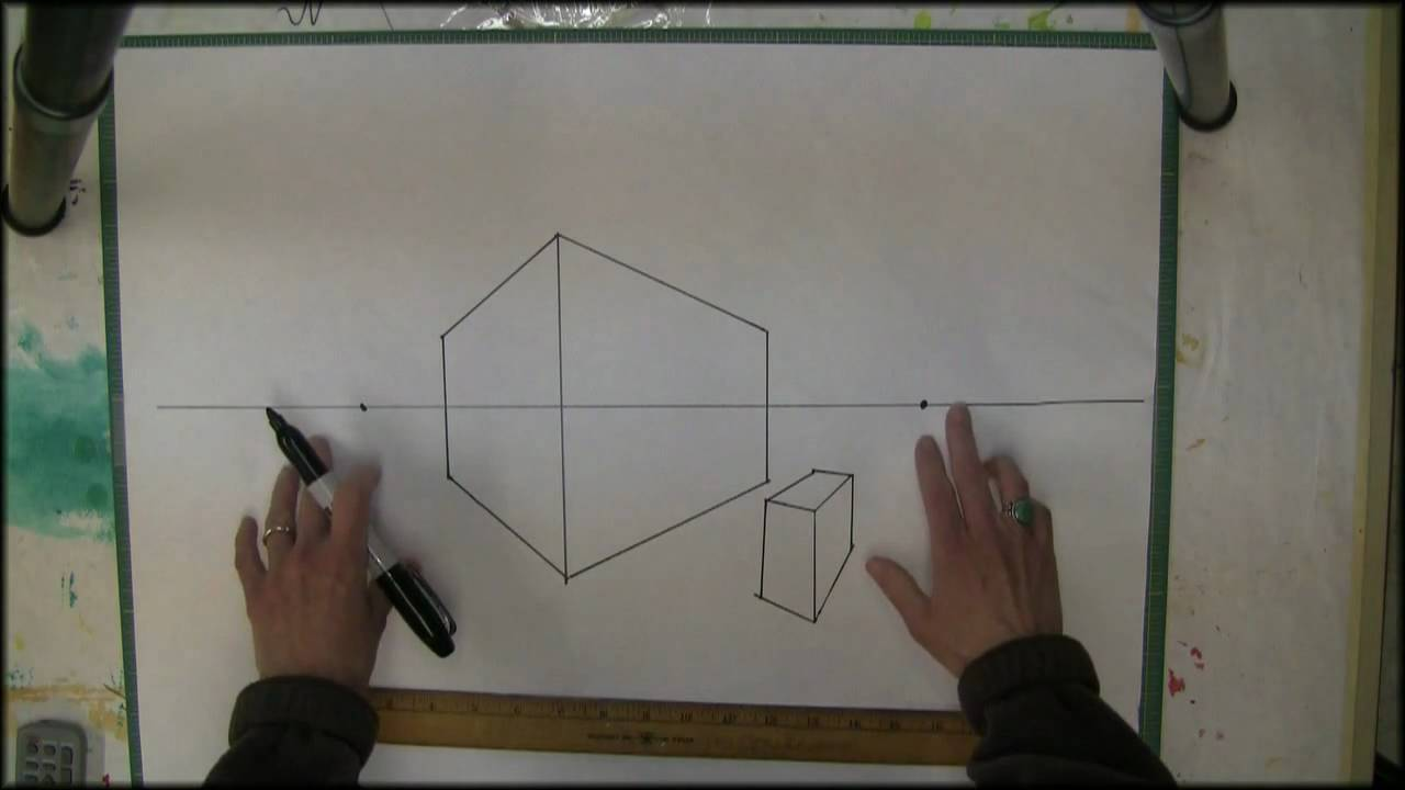 Drawn office two point Here  YouTube Point Perspective