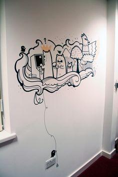 Drawn office wall Incredibly murals cool Pin Drawing