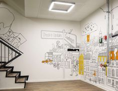 Drawn office wall Space Mozilla office Mozilla on