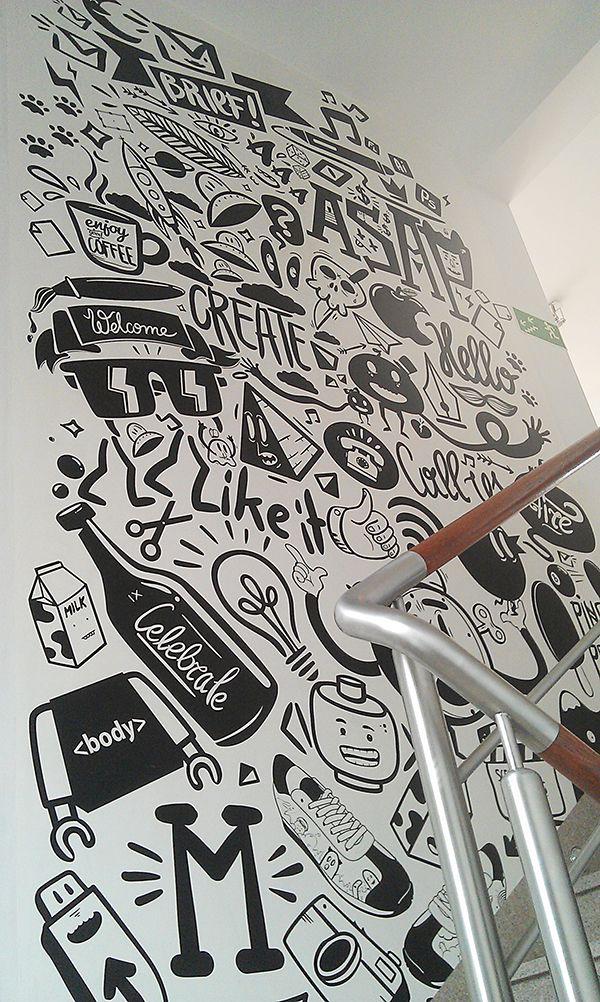 Drawn office wall Pinterest Wall 20+ ideas Wall