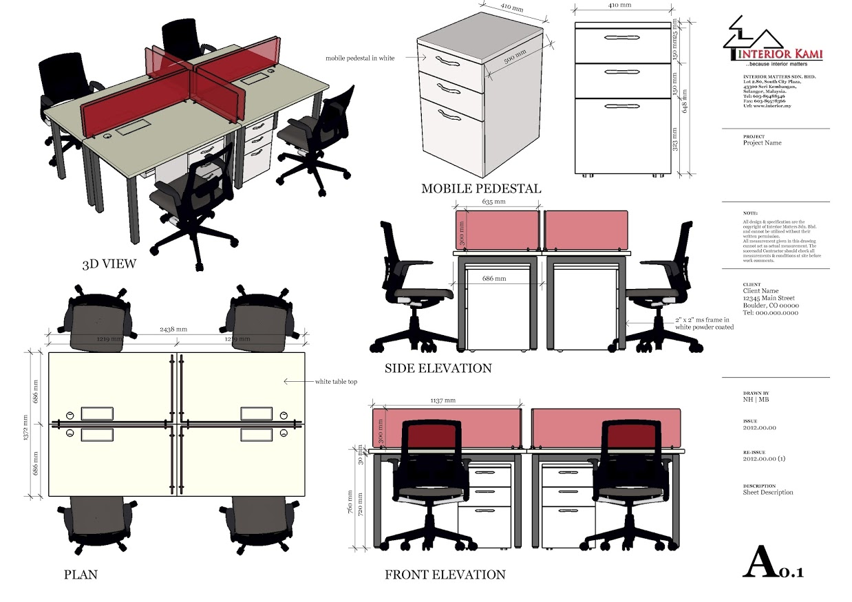 Drawn office workstation Point & office online Setapak