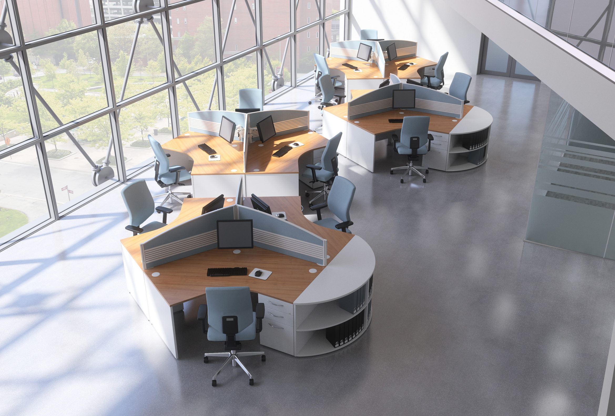 Drawn office workstation Office Space Open Your Office
