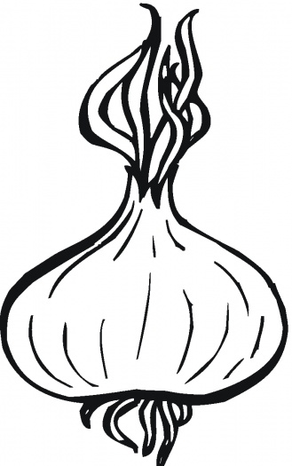 Onion clipart coloring page Clipart Pinterest coloring coloring 10