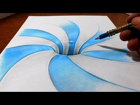 Drawn optical illusion 0ptical Images Anamorphic on Illusion Pattern