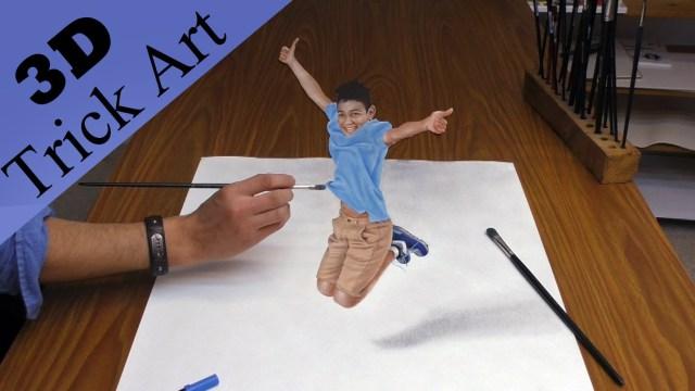 Drawn optical illusion 0ptical Off 3D Optical a How