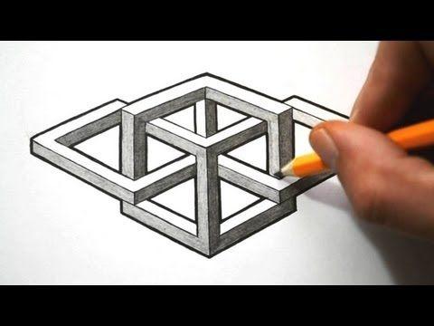 Drawn optical illusion 0ptical Impossible Impossible  Shape Shape