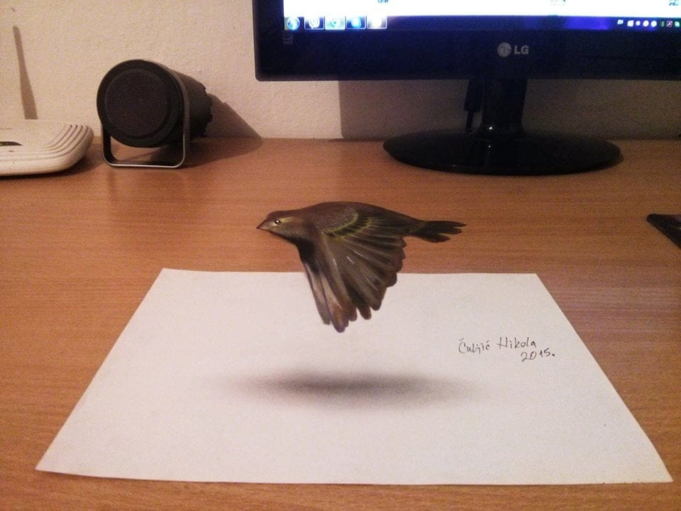 Drawn optical illusion 3d brain User illusions and A impressed