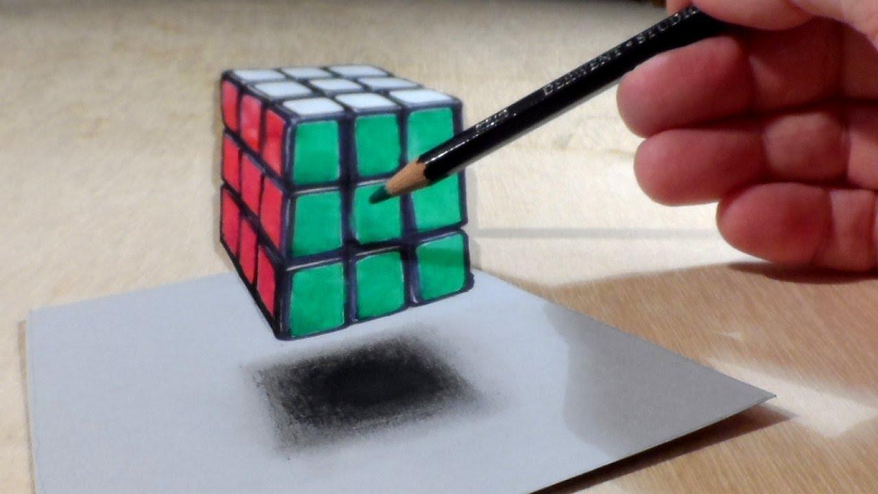 Drawn optical illusion 3d brain Get Rubik's 40 get Rubik's