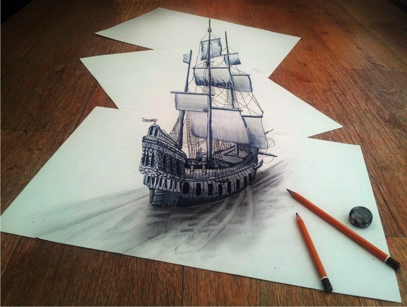 Drawn optical illusion 3d brain Dimensions its sketching Brain the