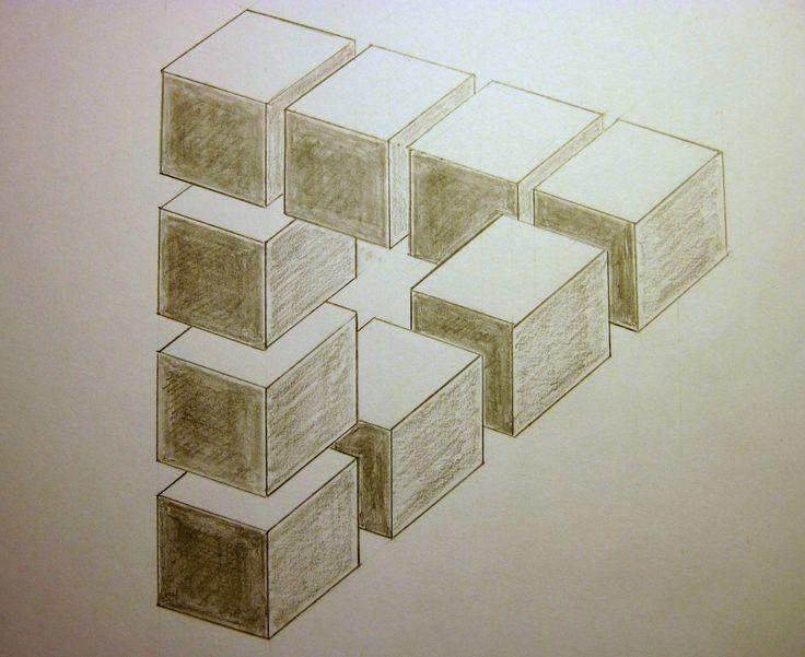Drawn optical illusion 3d brain On Optical ) M Pinterest