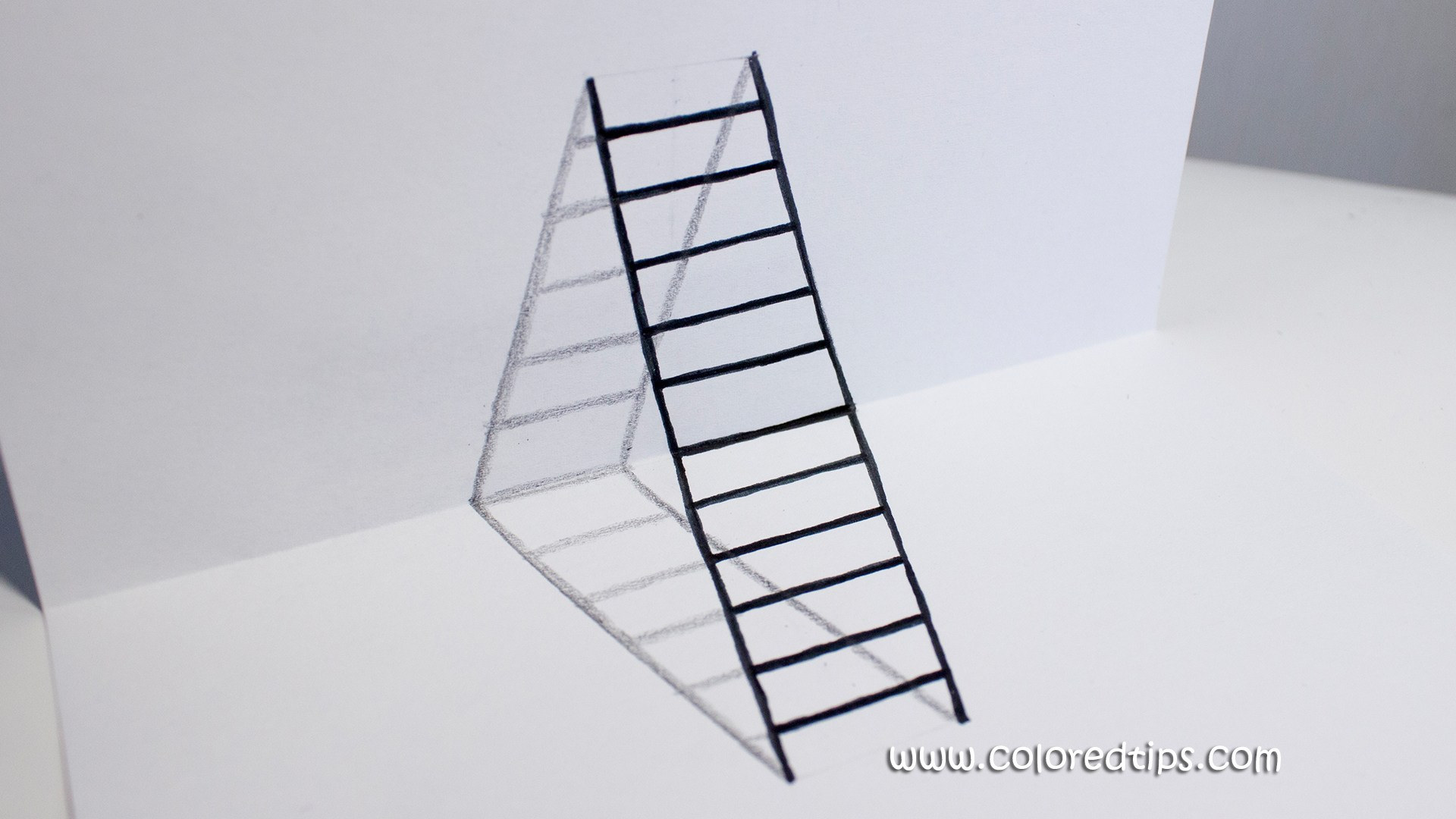 Drawn optical illusion DIY Goddess Ladder Illusion To
