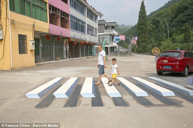 Drawn optical illusion accident Mail highways Online for to
