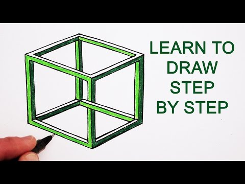 Drawn optical illusion allusion To Step To Impossible an