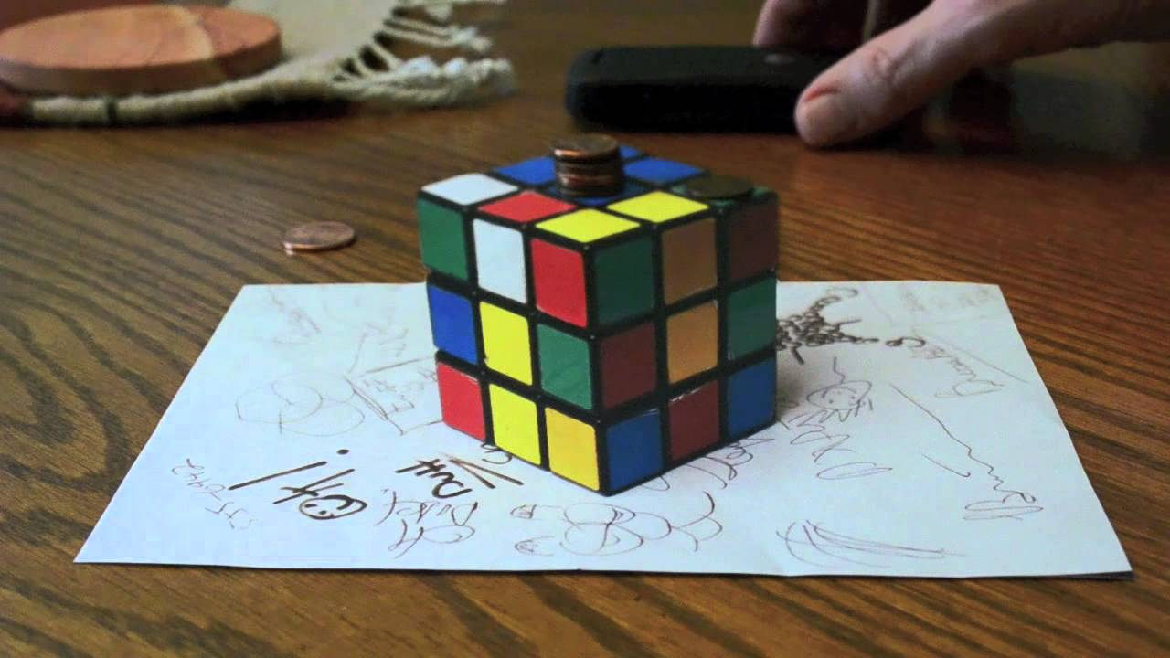 Drawn optical illusion allusion Anamorphic REAL? YouTube RUBIK'S OPTICAL