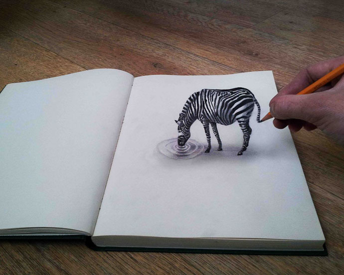 Drawn optical illusion allusion Drawings jpg Drawings Pin and