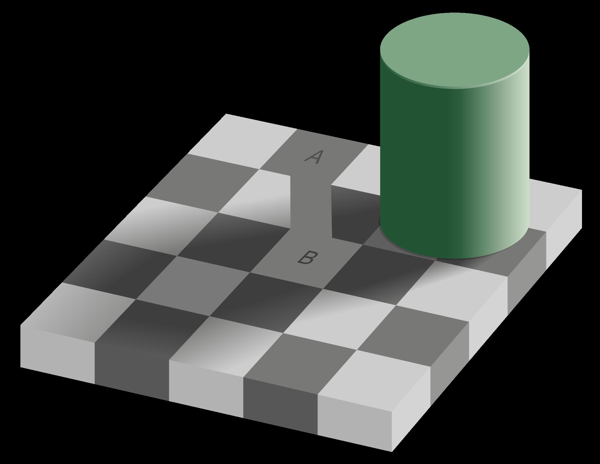 Drawn optical illusion allusion A breaks shows are bar